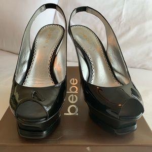 bebe Zahara Leather Slingback Pump Heels